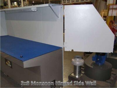 3x8-monsoon wet downdraft table Hinged