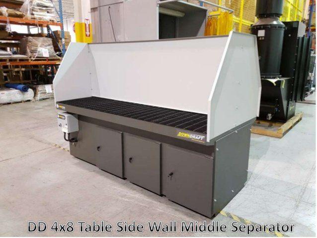 DD 4x8 Downdraft table w/ Center Divider