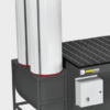Carbon canister w/ 50 lbs activated carbon granules on a reinforced upblast module, DD 2X4