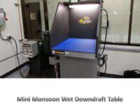 mini monsoon wet downdraft table walls light
